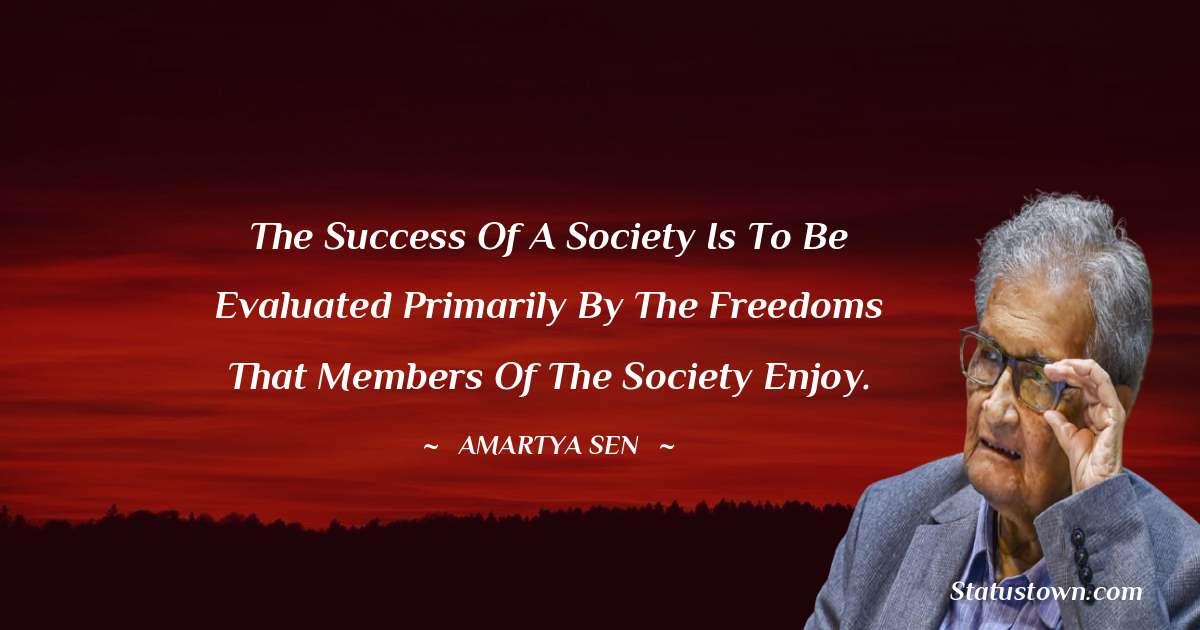Amartya Sen Positive Quotes