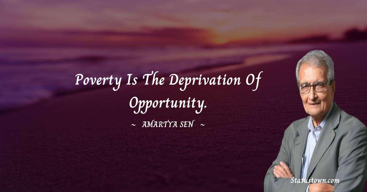 Amartya Sen Thoughts