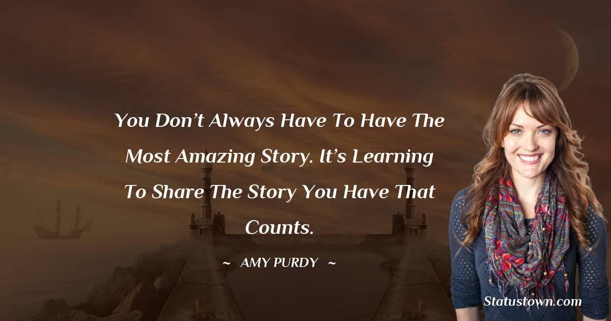 Amy Purdy Status