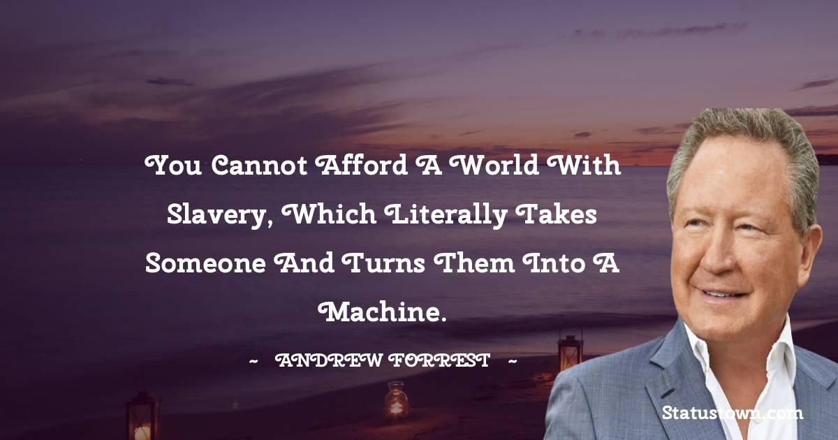 Andrew Forrest Status