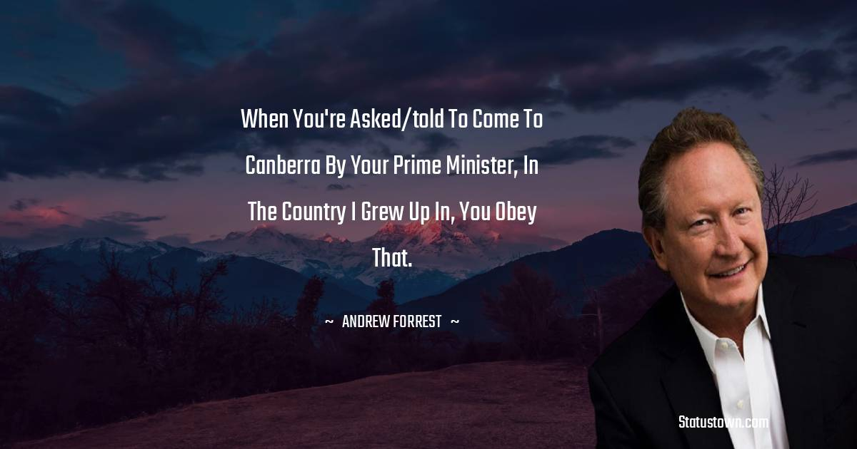 Andrew Forrest Inspirational Quotes