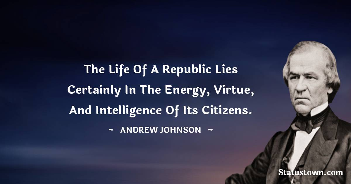 Andrew Johnson Thoughts