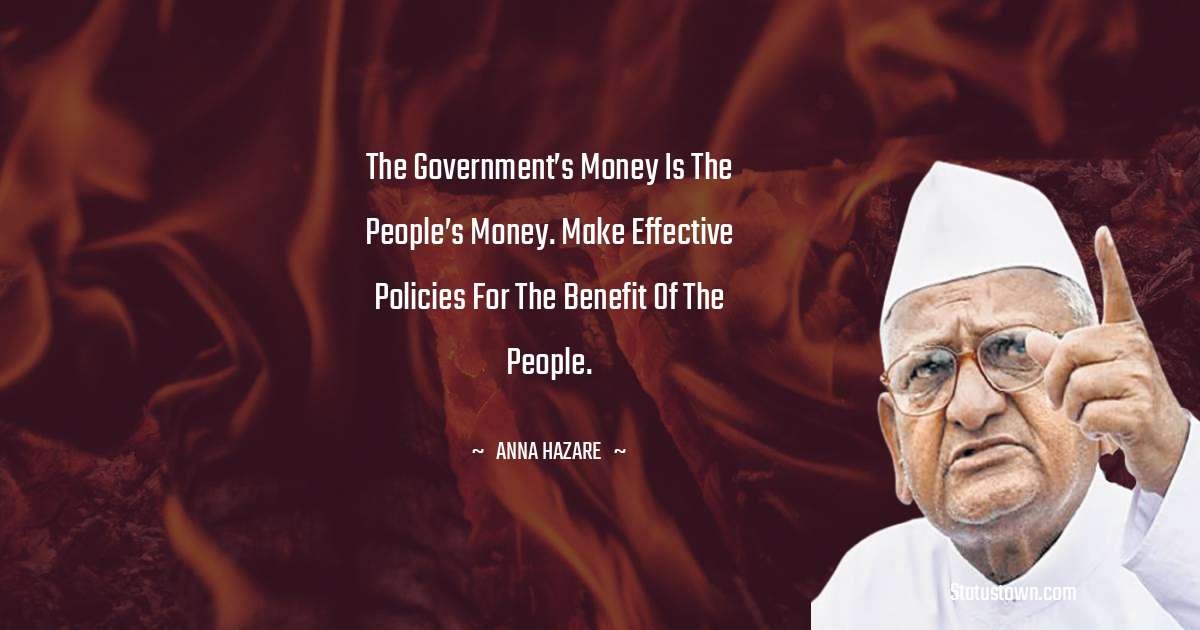 Anna Hazare Positive Thoughts