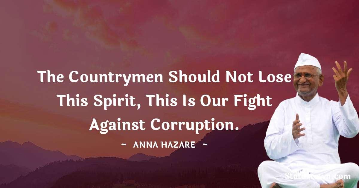 Anna Hazare Short Quotes
