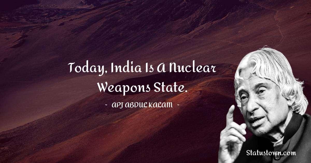 A P J Abdul Kalam Status