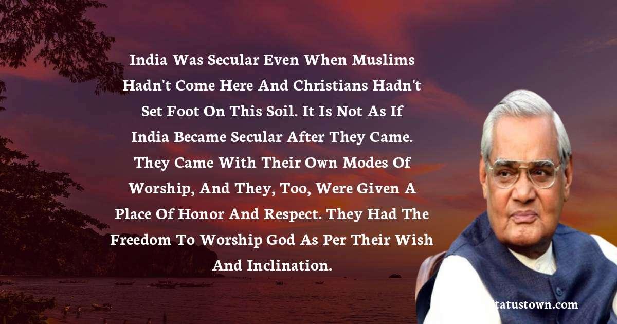 Atal Bihari Vajpayee Positive Quotes