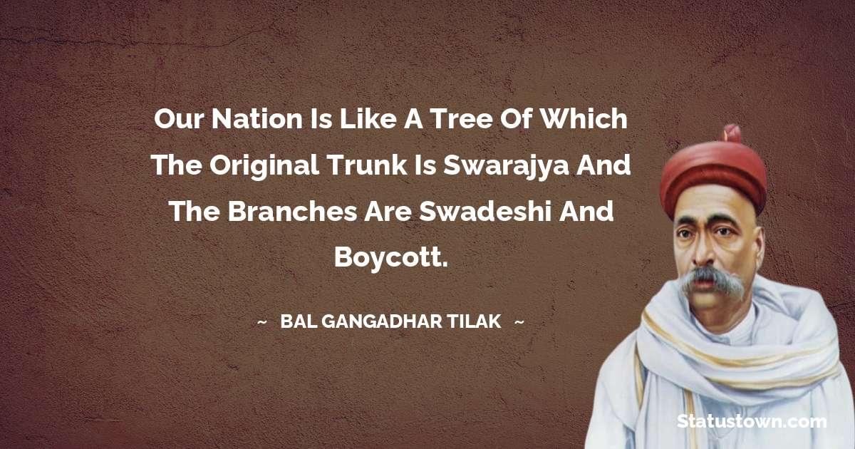 Bal Gangadhar Tilak quotes for success