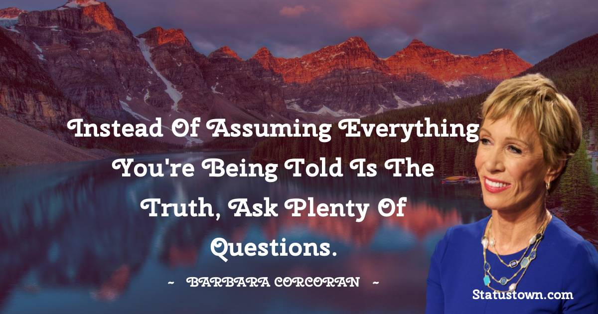 Barbara Corcoran Short Quotes