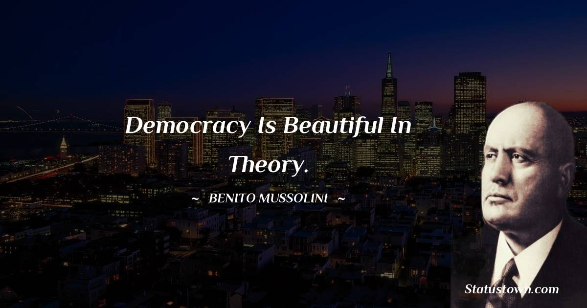 Democracy is beautiful in theory.