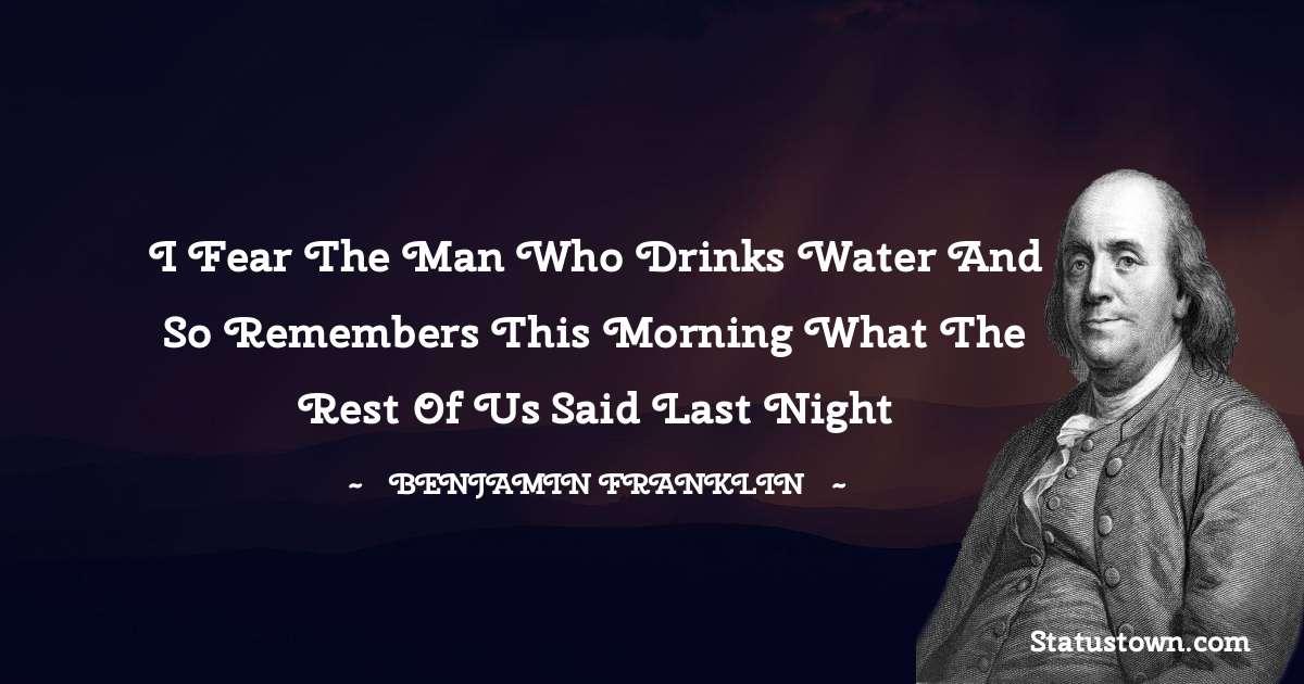 Benjamin Franklin Thoughts