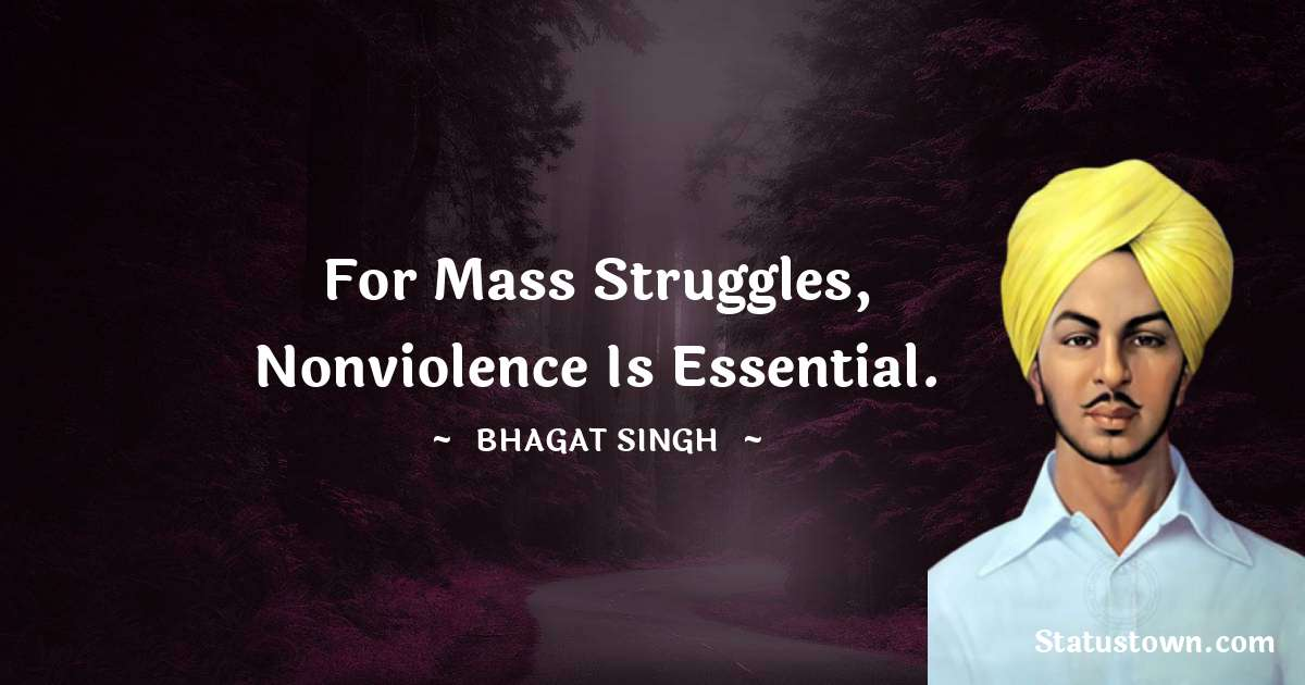 For mass struggles, nonviolence is essential.