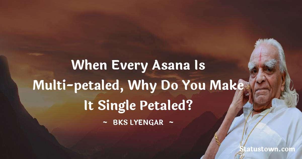 B.K.S. Iyengar Status