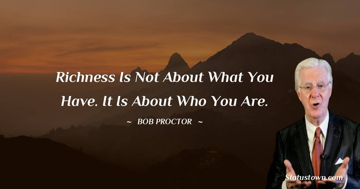 Bob Proctor Short Quotes