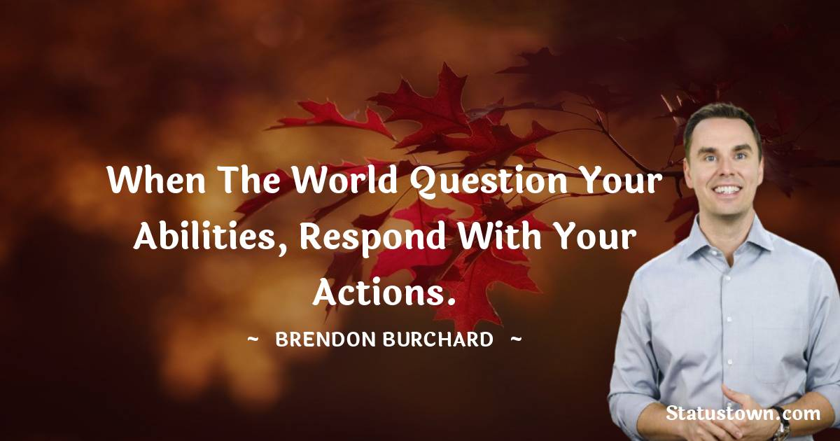 Brendon Burchard Positive Quotes