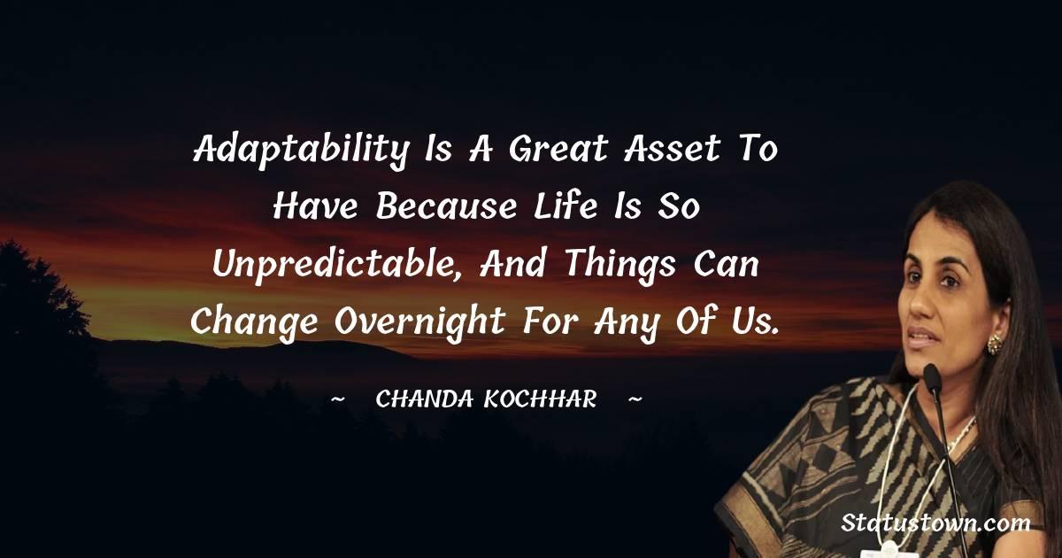 Chanda Kochhar Unique Quotes