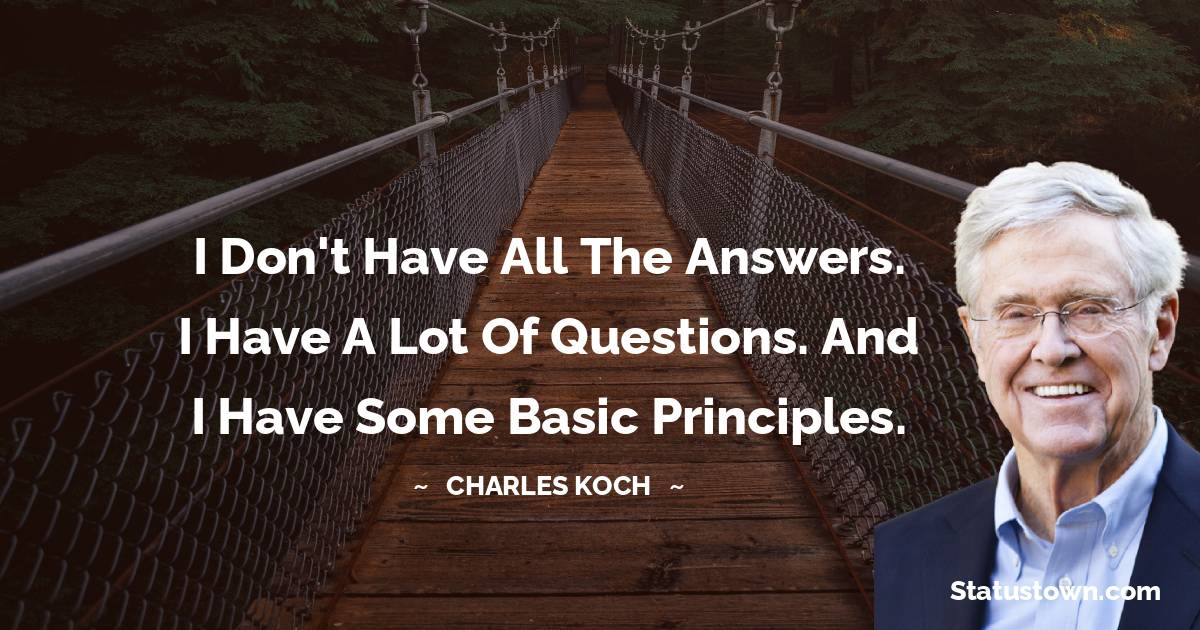 Charles Koch Motivational Quotes