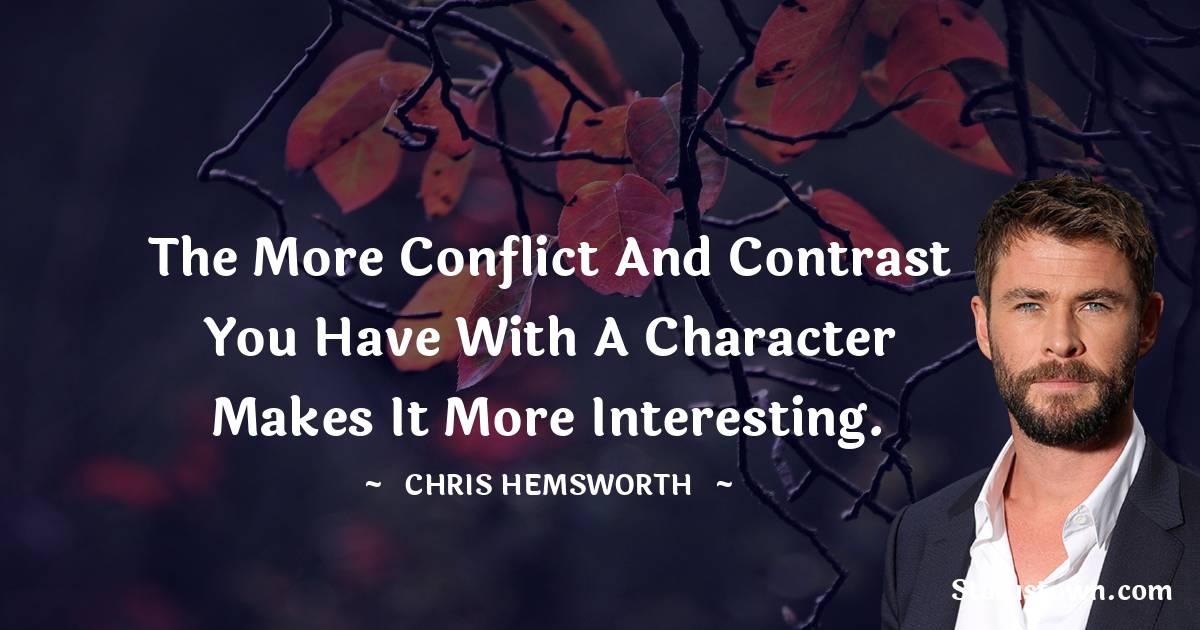 Chris Hemsworth Positive Quotes
