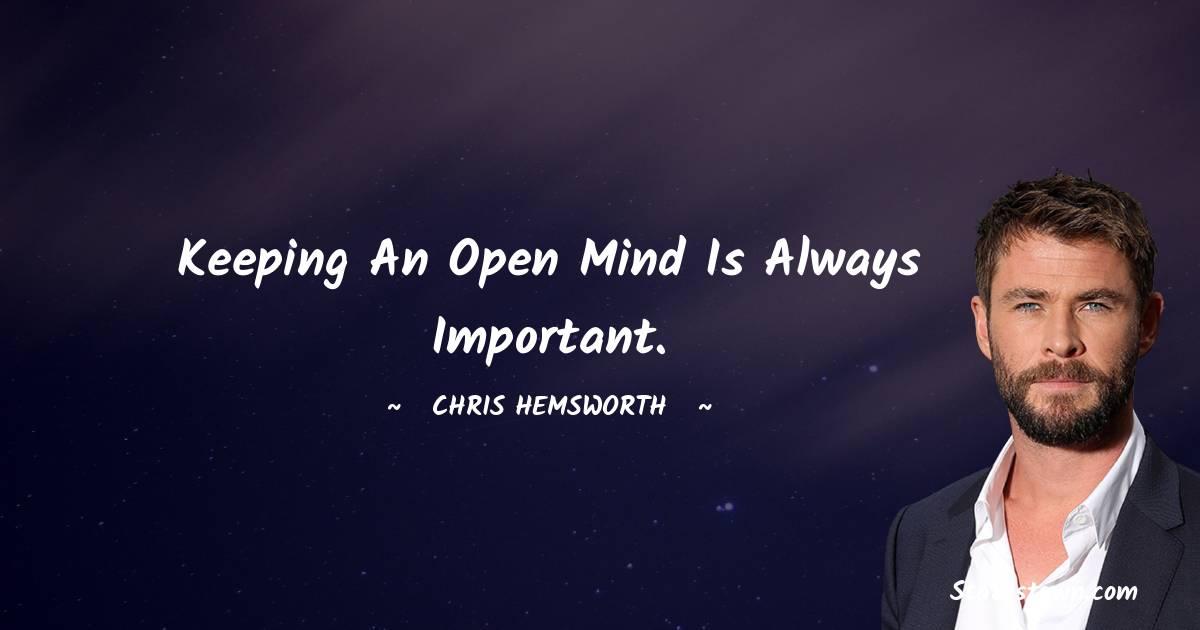 Chris Hemsworth Thoughts