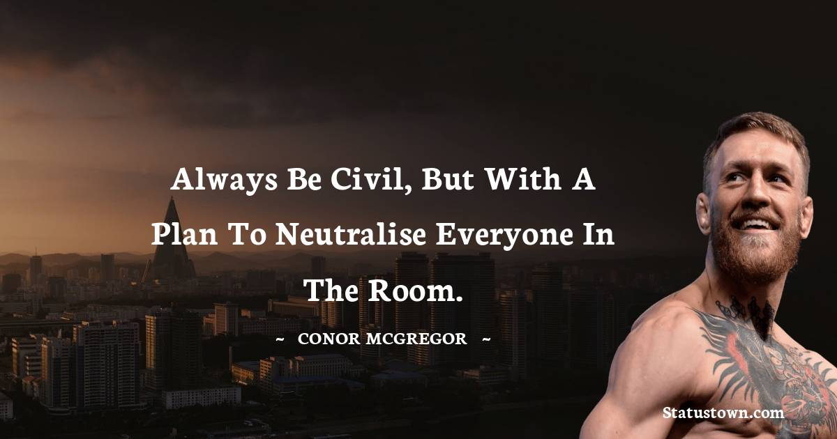 Conor McGregor Positive Thoughts