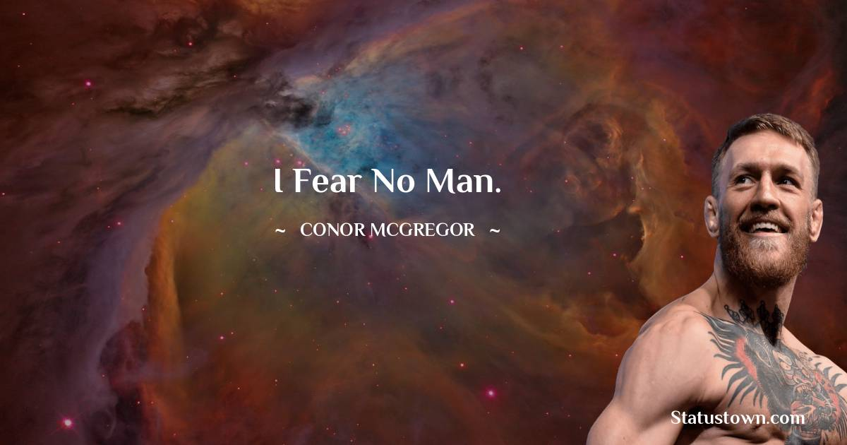 Conor McGregor Thoughts