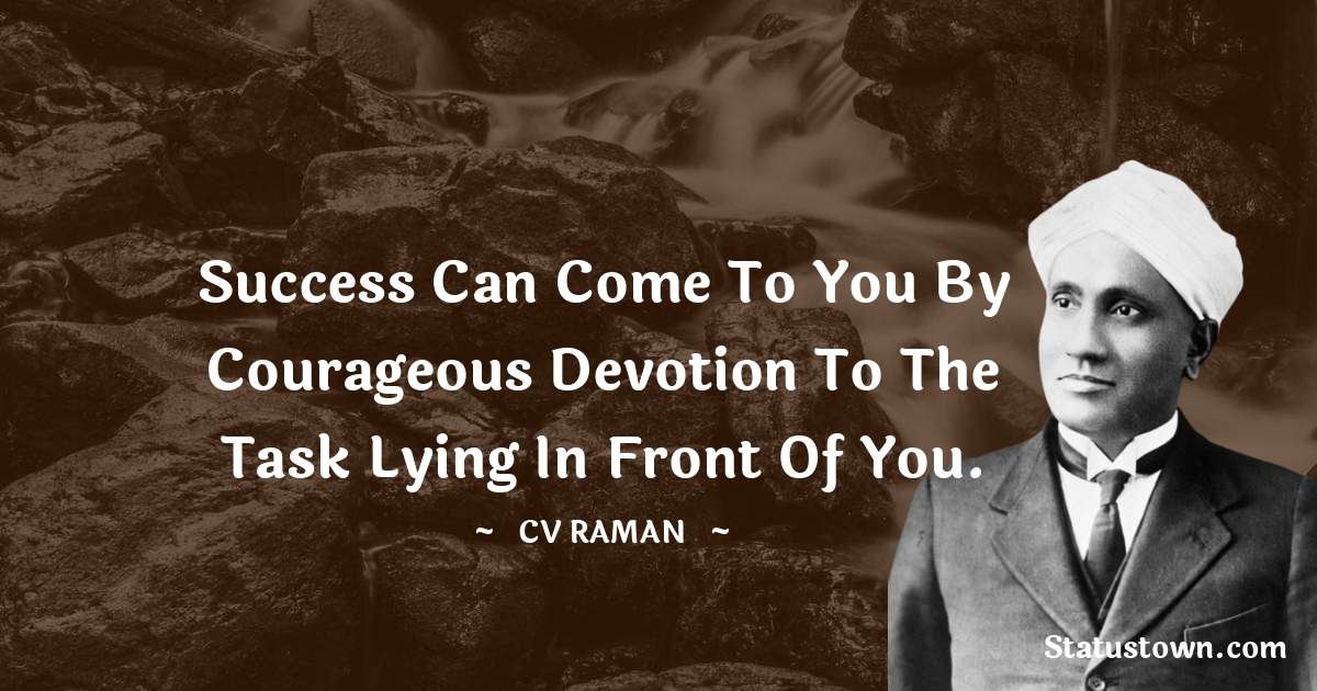 C.V. Raman Quotes images