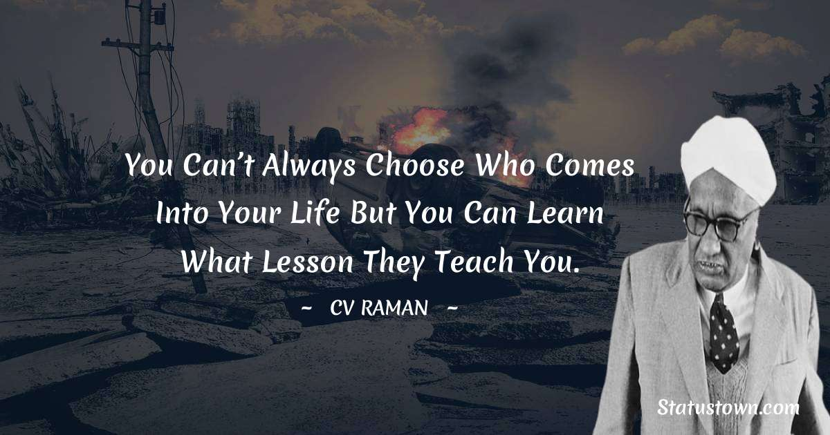 C.V. Raman Positive Thoughts