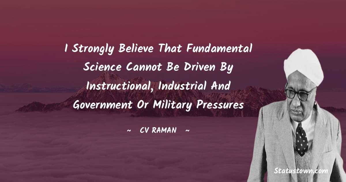 C.V. Raman Quotes