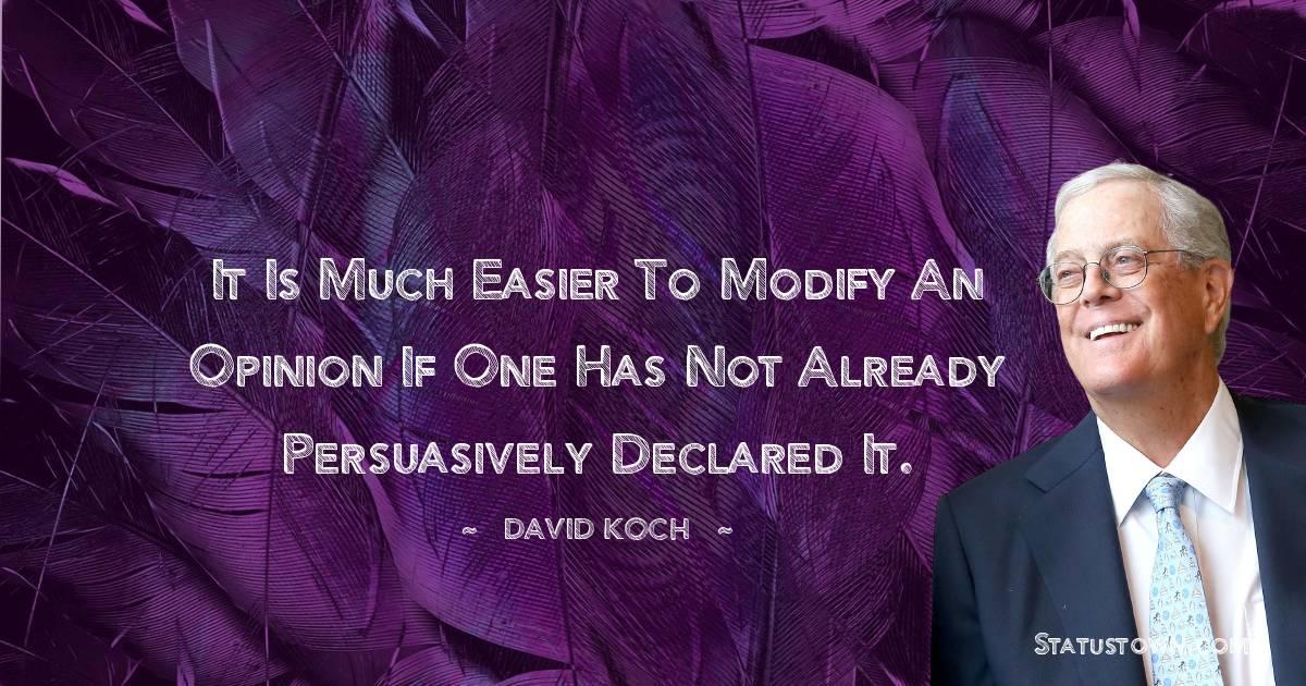 David Koch Positive Thoughts