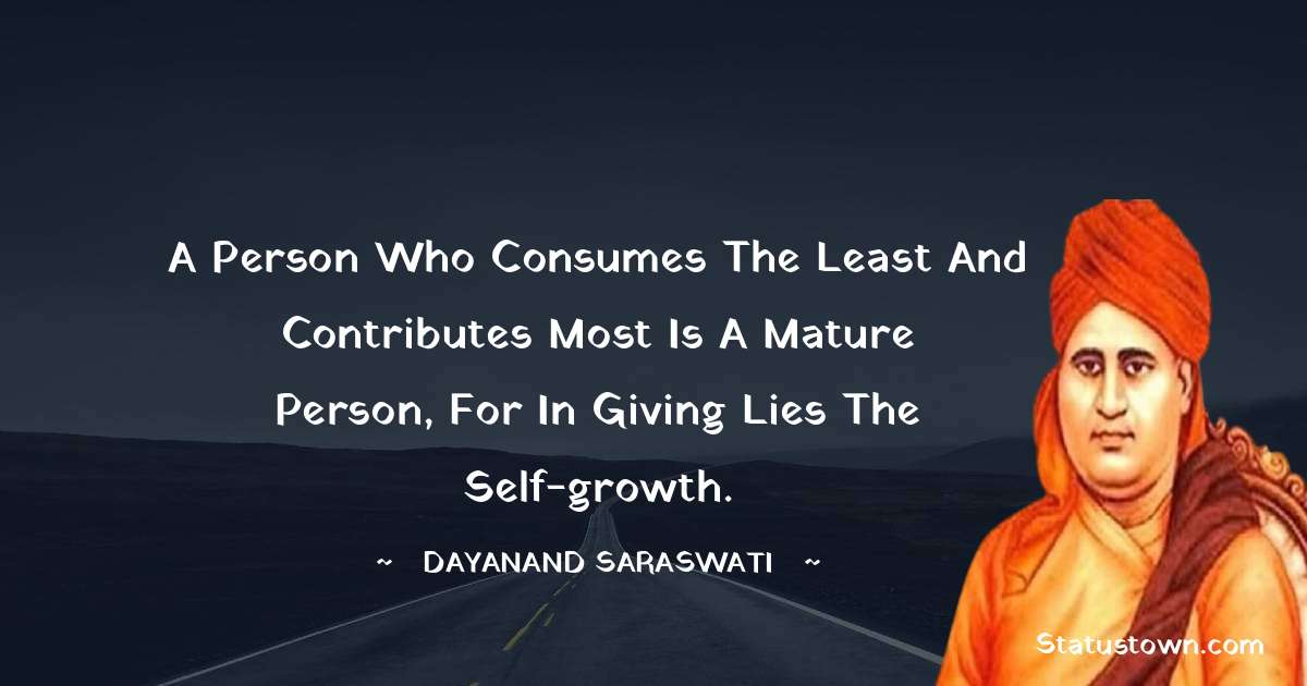 Dayanand Saraswati quotes for students