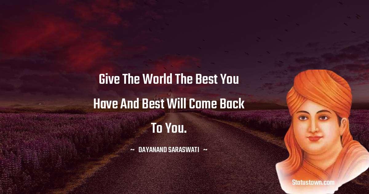 Dayanand Saraswati motivational Status