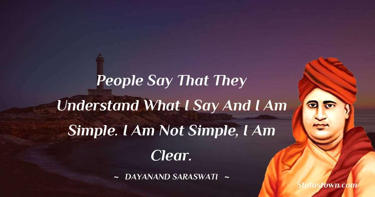 Dayanand Saraswati inspirational quotes