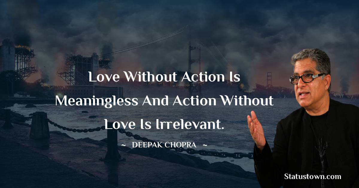 Deepak Chopra Status