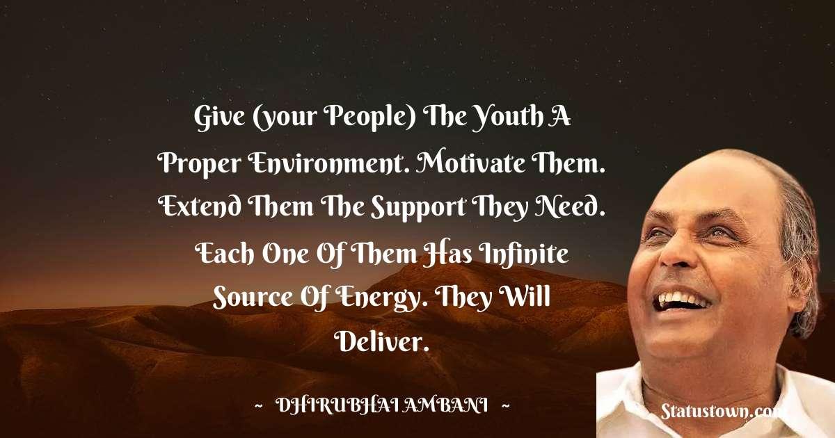 Dheerubhai Ambani Short Quotes