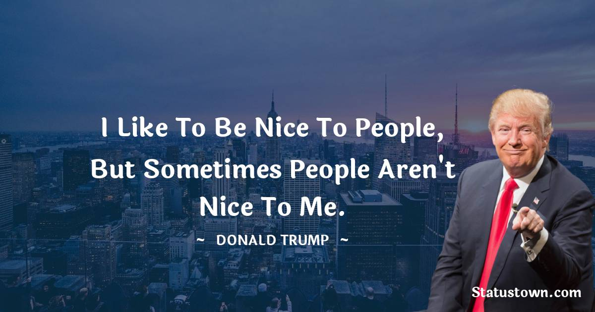 Donald Trump Thoughts
