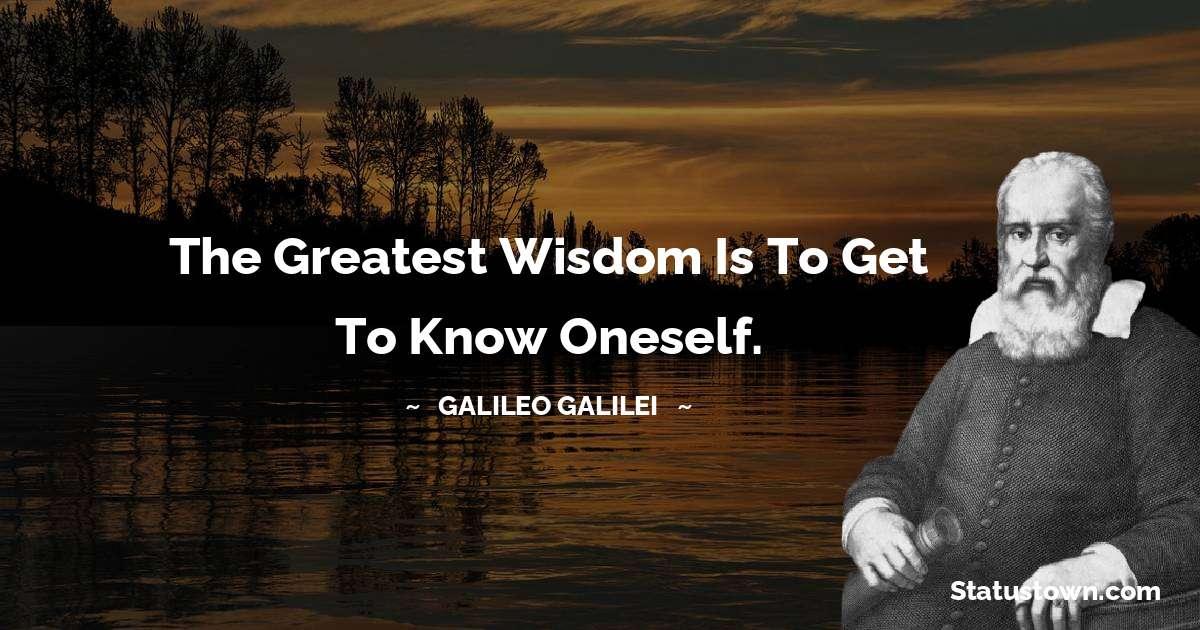 Galileo Galilei Motivational Quotes