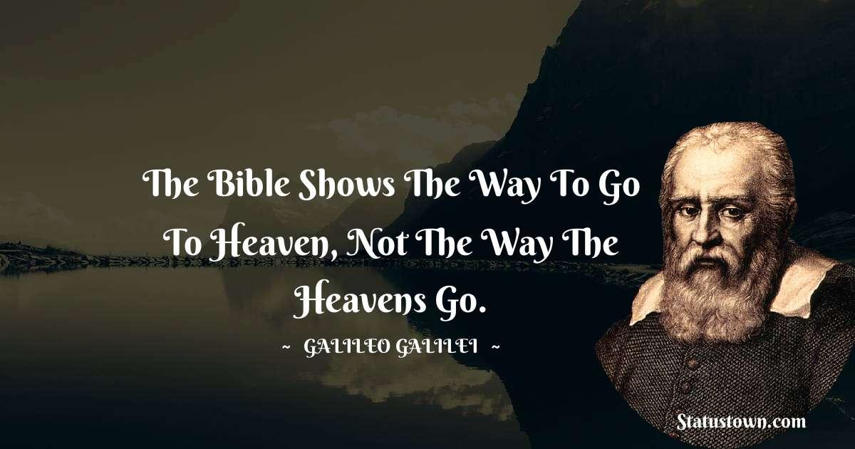 Galileo Galilei Inspirational Quotes