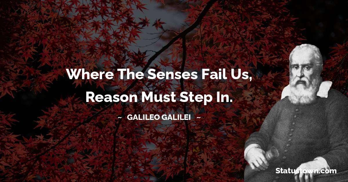 Galileo Galilei Thoughts