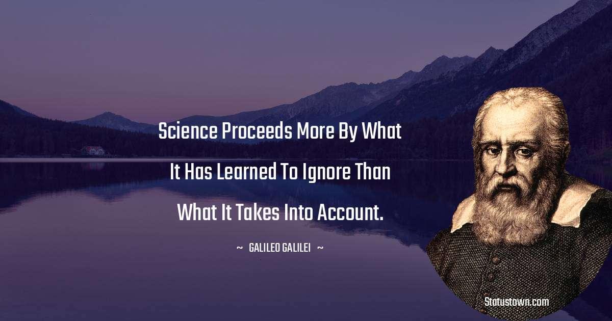 Galileo Galilei Unique Quotes