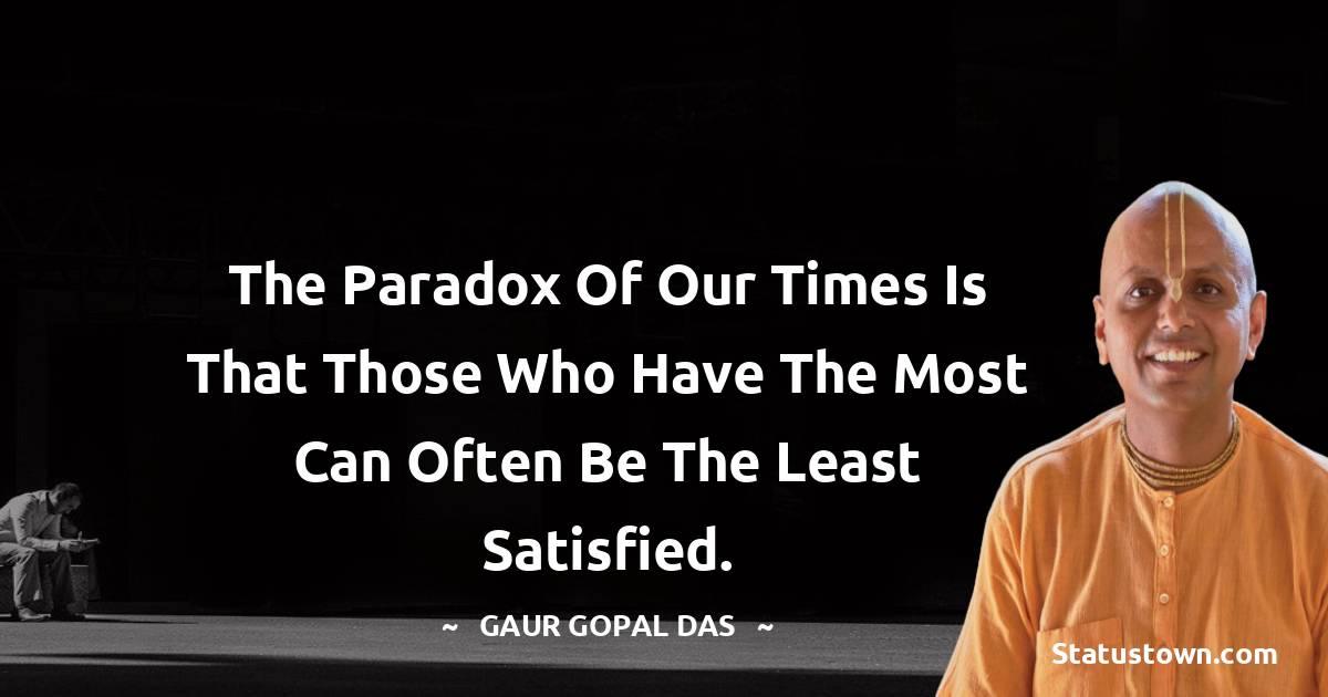 Gaur Gopal Das Status