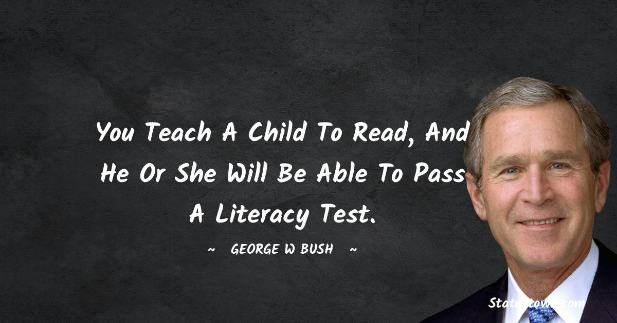 George W. Bush Positive Thoughts
