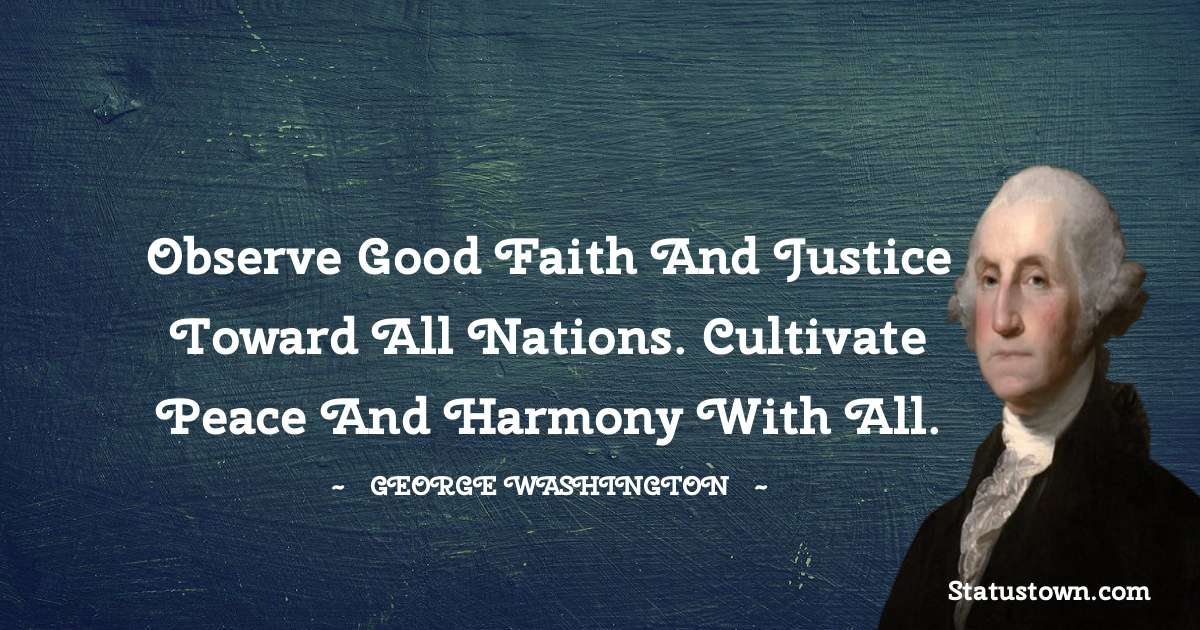 George Washington Inspirational Quotes
