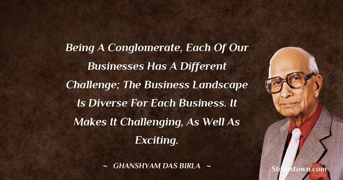 Ghanshyam Das Birla about life