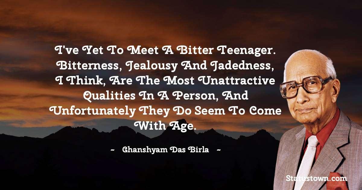 Ghanshyam Das Birla quotes for students