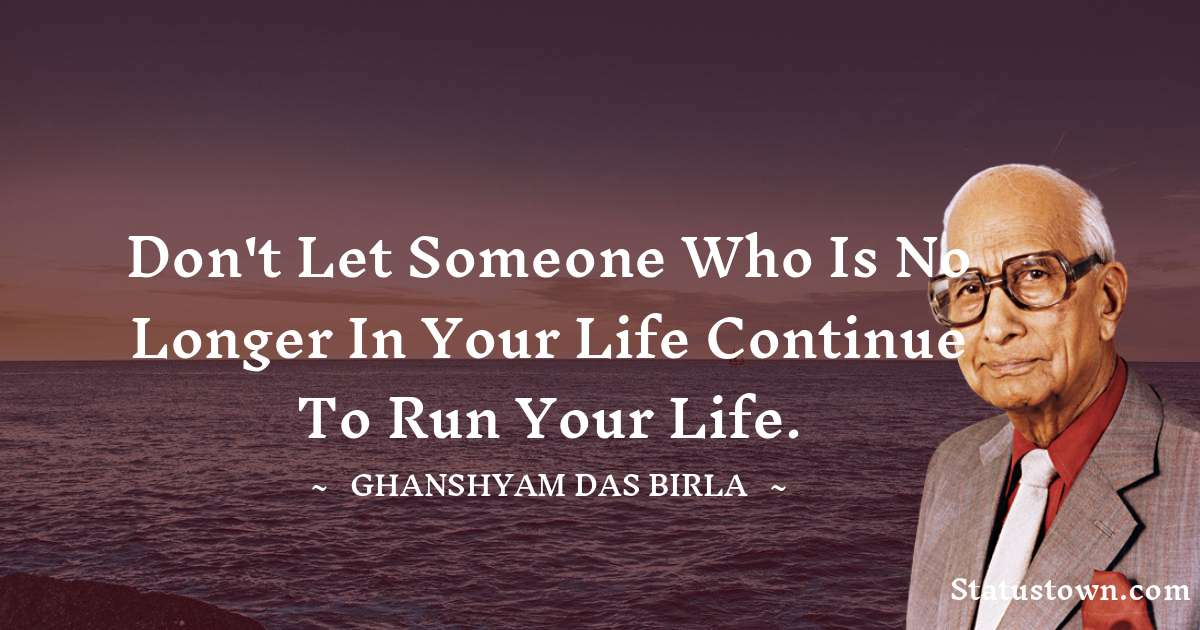 Ghanshyam Das Birla motivational Status