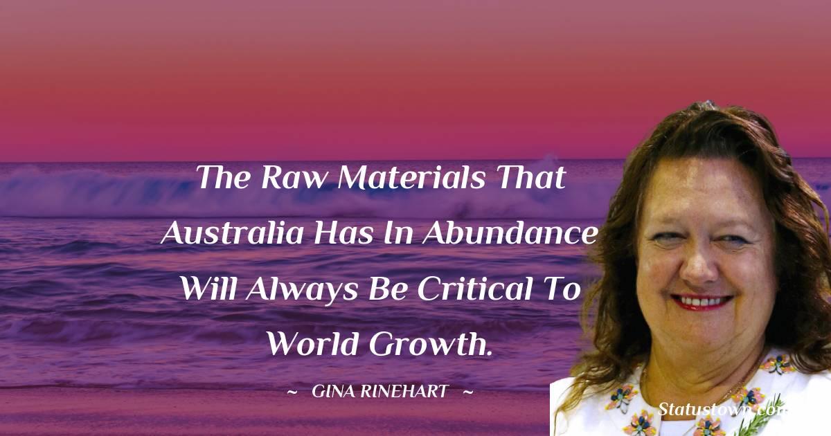 Gina Rinehart Inspirational Quotes