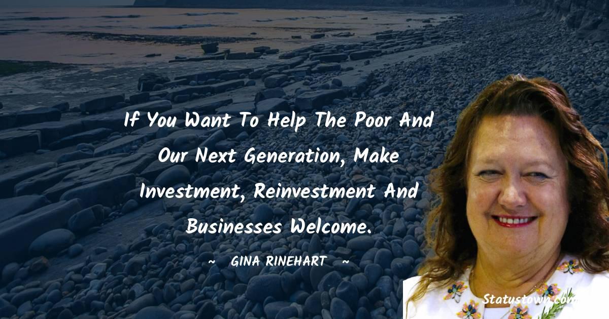 Gina Rinehart Thoughts