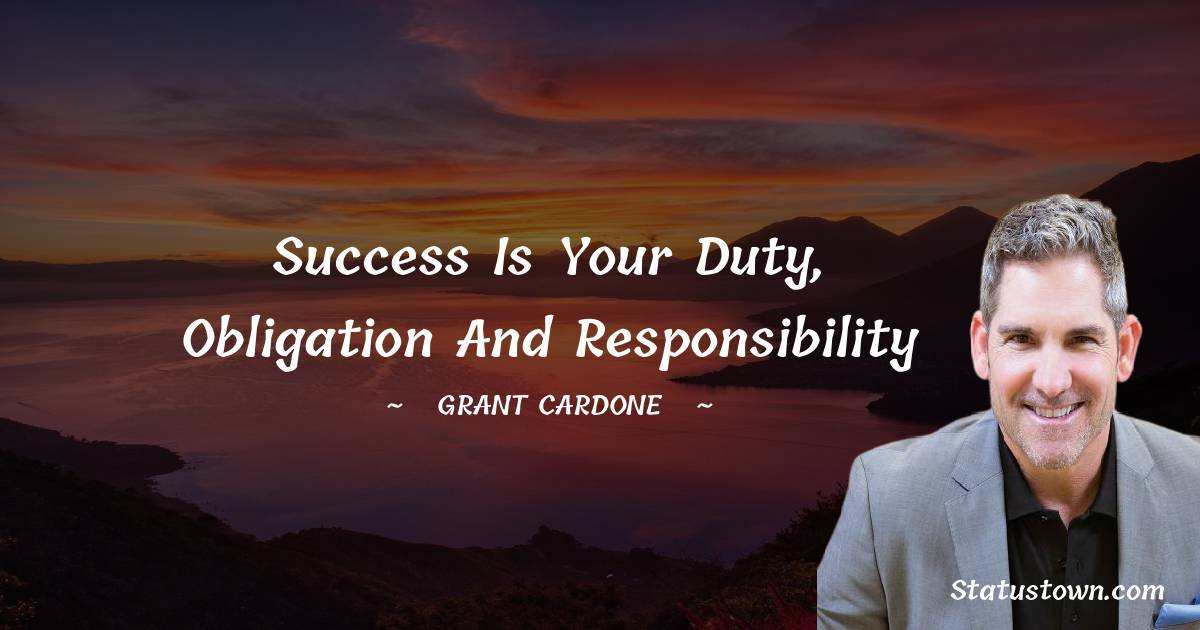 Grant Cardone Inspirational Quotes