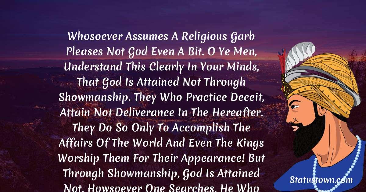 Guru Gobind Singh Inspirational Quotes