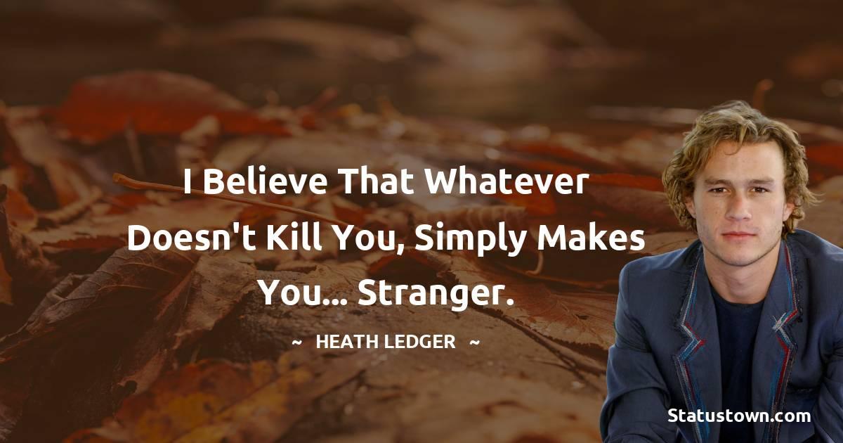 Heath Ledger Thoughts