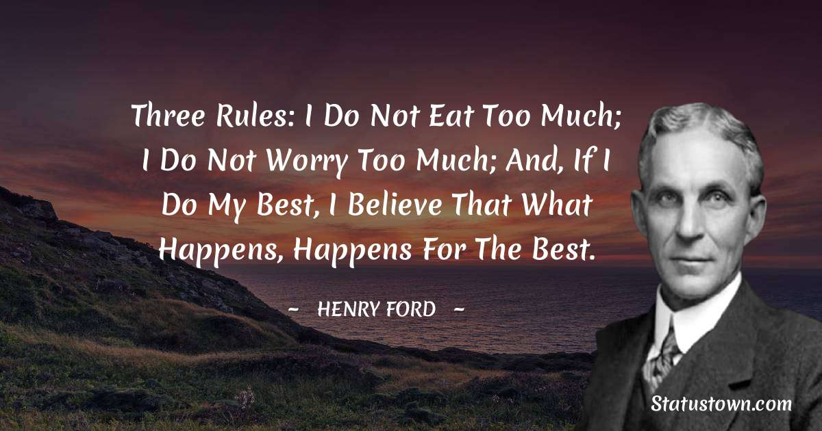 Henry Ford  Thoughts